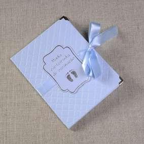 Caderneta de Vacina Luxo Azul