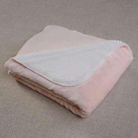 Cobertor Sherpa Rosa