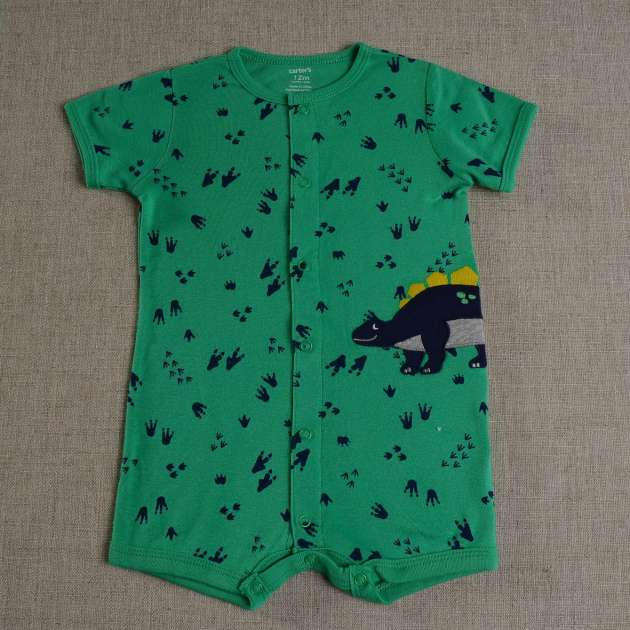 Romper Carter's Dinossauros Verde