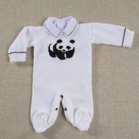 Macacão Panda Branco