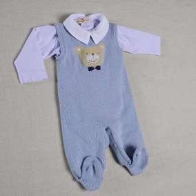 Conjunto Urso Carinho Azul