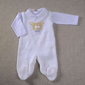 Conjunto Urso Carinhoso Branco