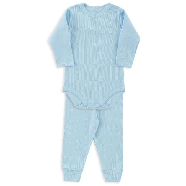Conjunto Body Azul Bebê