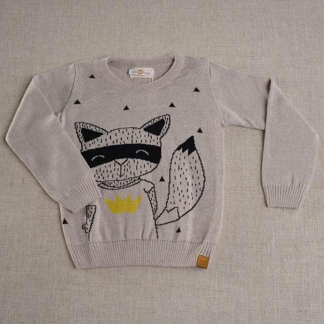 Sweater Kid Bege Mescla