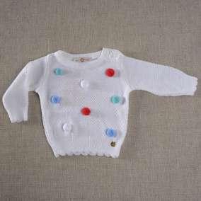 Sweater Pompom Branco