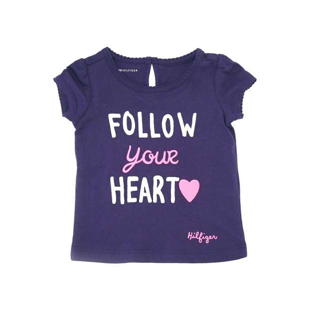 Camiseta Marinho Coração Neon Tommy