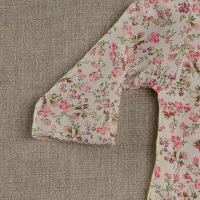 Macacão Cru Floral Rosa