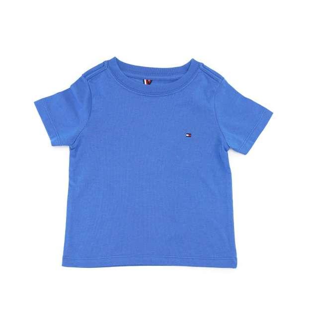 Camiseta Manga Curta Azul Lisa Tommy
