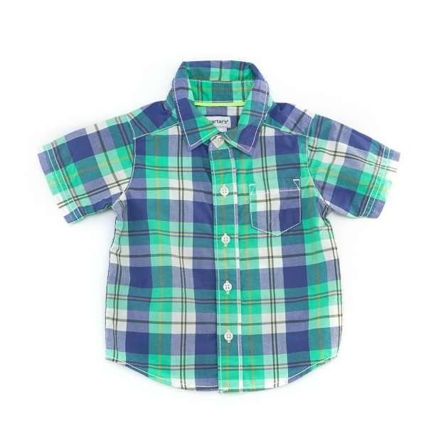 Camisa Manga Curta de Botões Carter's