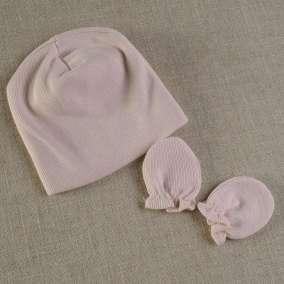Touca e Luva Bebê Rosa
