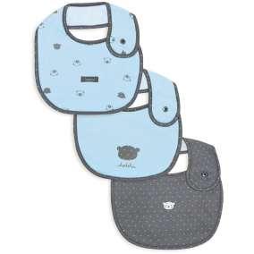 Kit Babadores Urso Azul