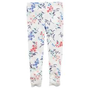 Legging Branca Floral Carter's