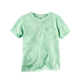 Camiseta Verde com bolso Carter's