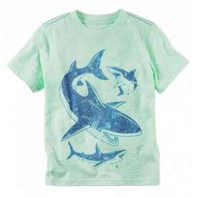Camiseta Verde Tubarão Carter's