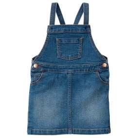 Jardineira Saia Jeans