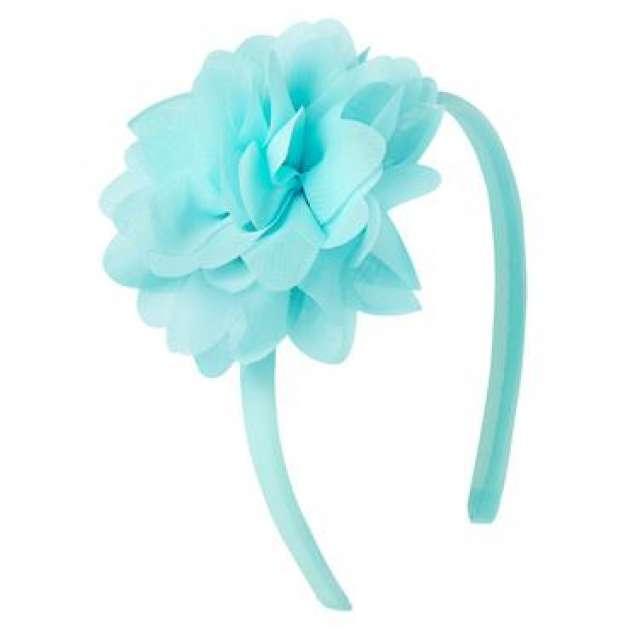 Tiara Azul Claro Flor