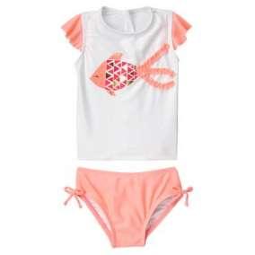 Camiseta Peixe com Calcinha Proteção Solar UPF 50 +