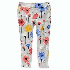 Legging Cinza Floral