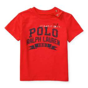 Camiseta Vermelha Manga Curta  Polo Ralph Lauren