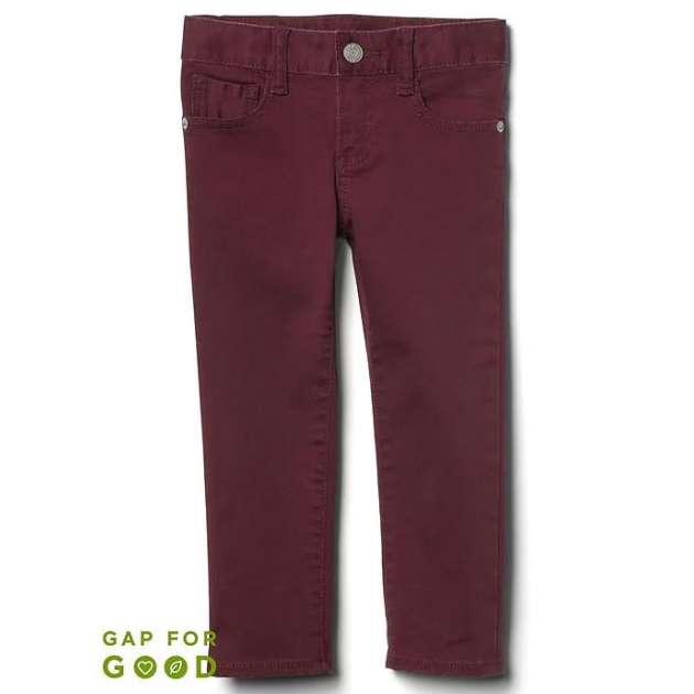 Calça Stretch Slim Jeans Vinho GAP