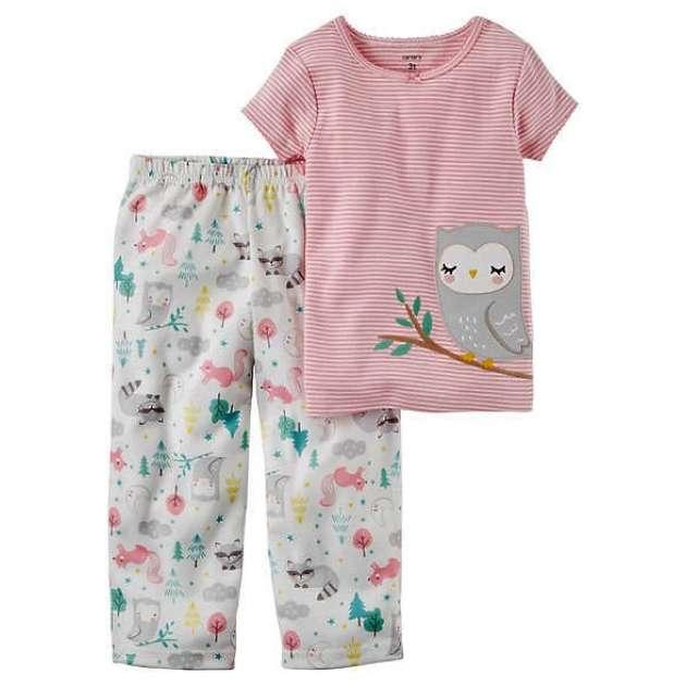 Pijama Manga Curta Calça Coruja Carter's