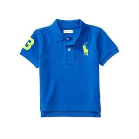 Camiseta Gola Polo Azul Manga Curta Polo Ralph Lauren