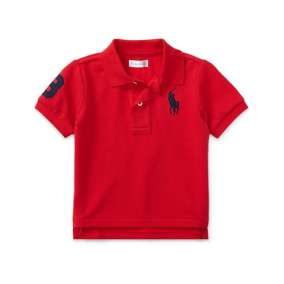 Camiseta Gola Polo Vermelho Escuro Manga Curta Polo Ralph Lauren