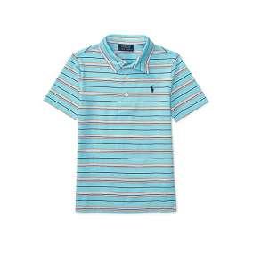 Camiseta Gola Polo Azul Listrado  Manga Curta Polo Ralph Lauren